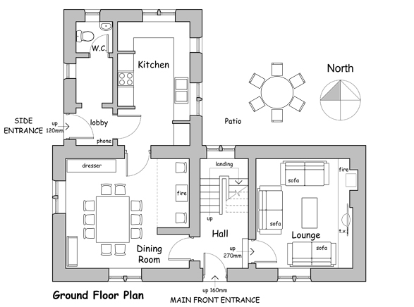 small hillside cottage house plans - Cottage Floor Plans